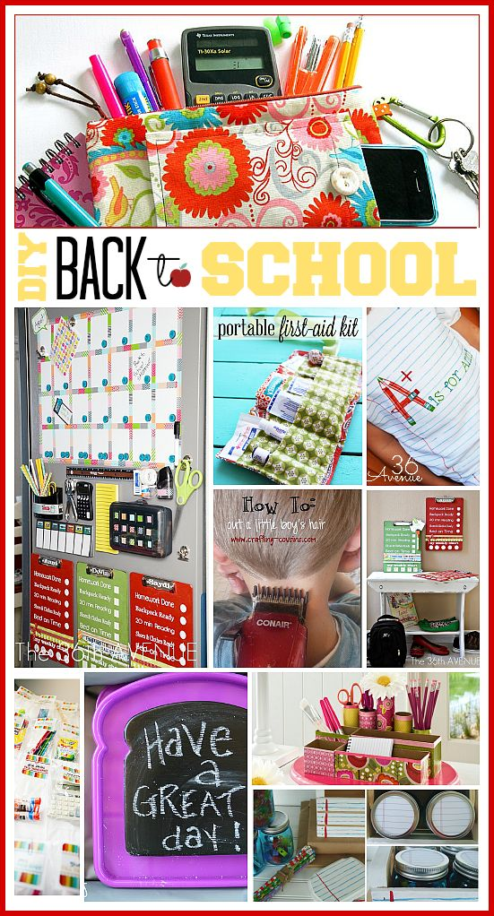 10 of the best DIY back to School ideas. Awesome ways to stay organized and get ready for back to school. the36thavenue.com