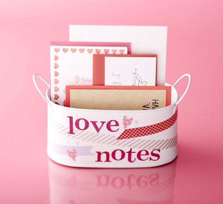 Thinking of writing some love notes for your loved one this V-day? Our notes, ribbons and metal bins are perfect for card making and display!