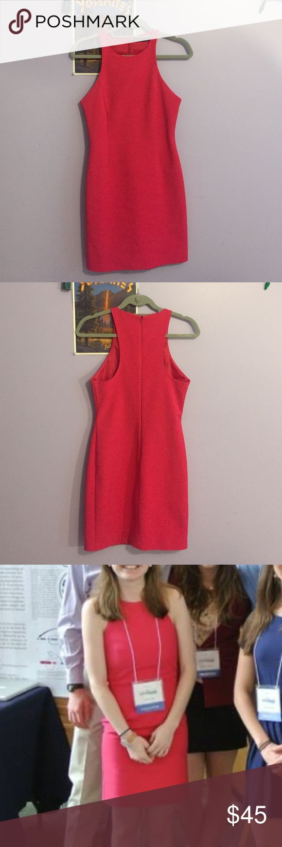 """Pink Zara Racerback Dress Fantastic all-around dress! Got a little too small for me so I am passing it along to someone who can use it. Hits right above the knee on me (I'm 5'3""""). Only worn on a few occasions and is in great shape Zara Dresses"""