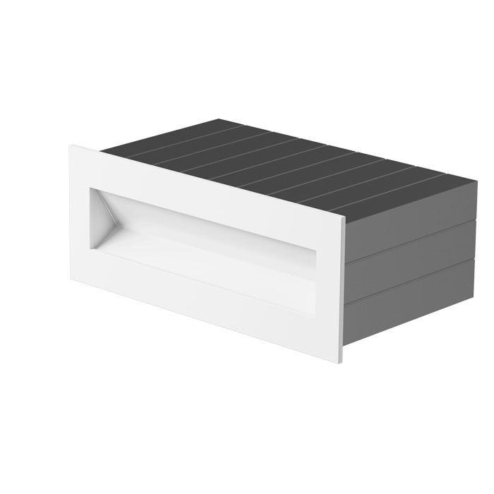 TESS RC - Zápustné svítidlo s lakovaným rámečkem pro zabudování do stěny. Dodáváno včetně montážního boxu.