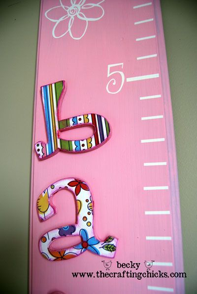 Wooden Growth Chart from @Becky James of @The Crafting Chicks