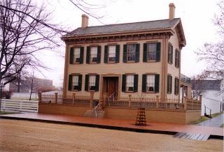 Abraham Lincoln home, Springfield, Illinois.