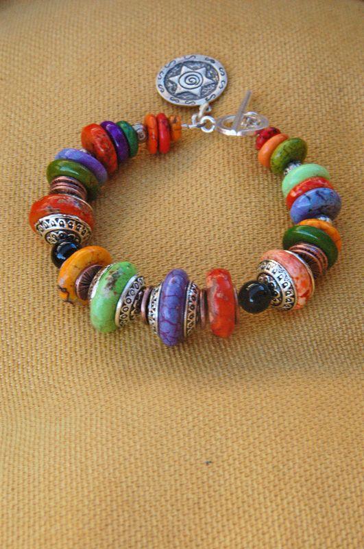 Bracelet by Earth & Sky Studio. colorful and festive beauty!
