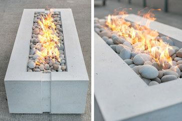 Avera Concrete Gas Firepit - modern - available in natural gas or propane - sleek