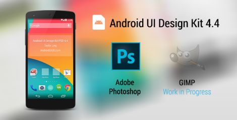 Android UI Design Kit for Photoshop 4.4 [Free Download]