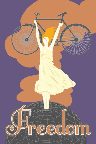 Bike For Freedom Art Print by Melody G. Stone | Society6