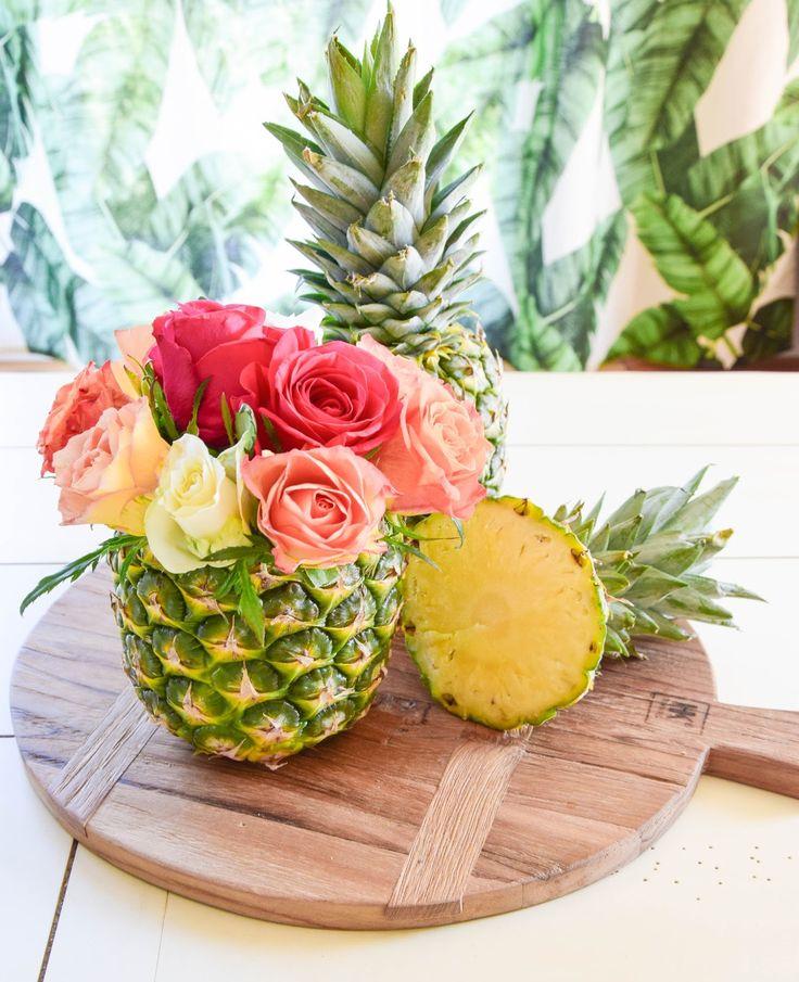 DIY Vase Aus Ananas: Einfach Und In 5 Minuten Fertig! Tischdeko Für Die  Sommerparty