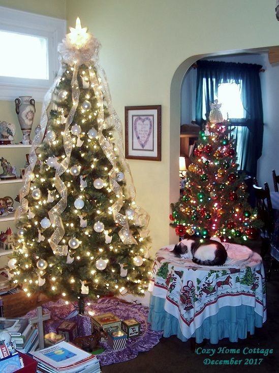 Two trees this year. I just felt extra festive, I guess.
