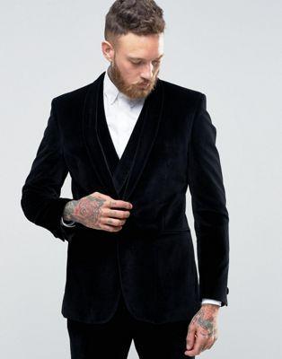 Бархатный пиджак зауженного кроя с шалевым воротником Hart Hollywood by Nick Hart