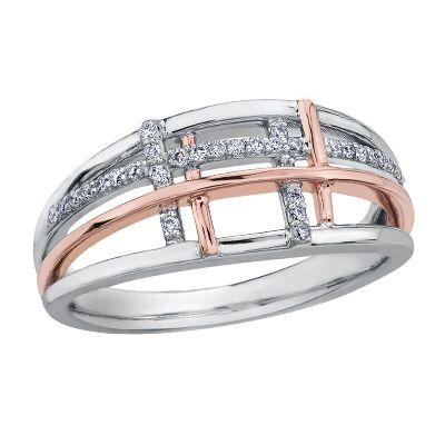 Two tone dinner ring with rose gold, $499 #ZekesWishList