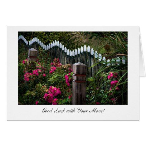 Marken Roadside Garden - Good Luck with Your Move Card - click/tap to personalize and buy