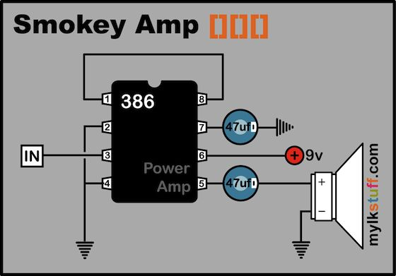 Power Amplifier Guitar Practice Electronic Projects Circuits