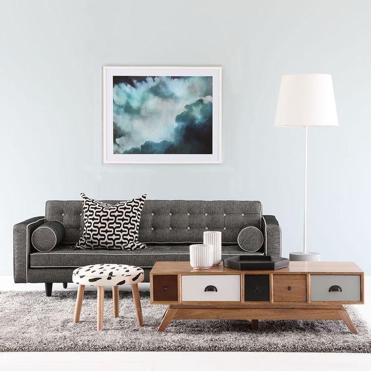 Australian made JAZZ sofa and timber PORTO dining table #Australianmade #style #interior