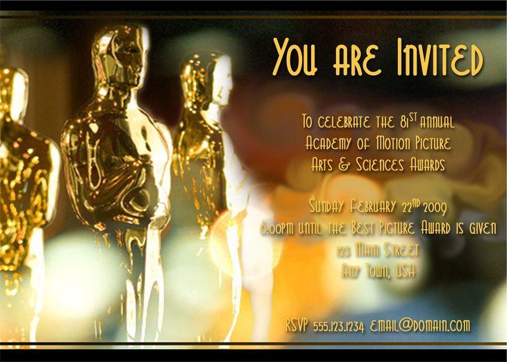 94 best Oscar Party Ideas images – Oscar Party Invitations