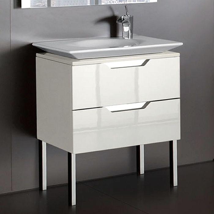 Sleek Style Contemporary Bathroom Furniture From Spanish Brand Roca Kalahari N Single