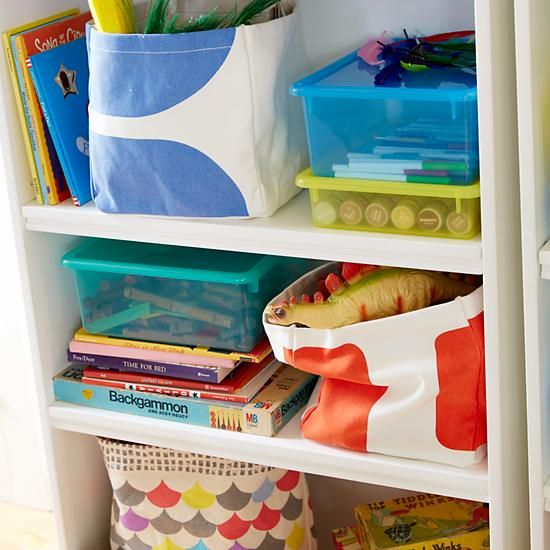 Color Pop Cube Storage Bin | The Land of Nod - $20