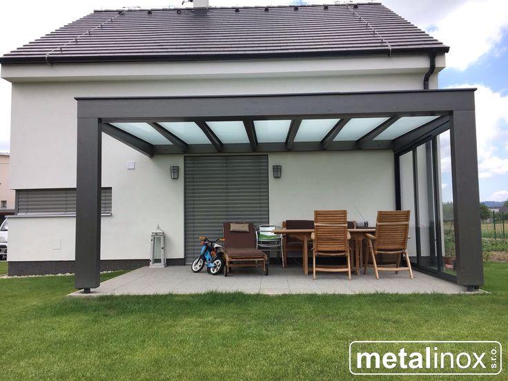 Drevený prístrešok FLAT s mliečnym sklom/Wooden shelter with glass Caport/shelter/pergola