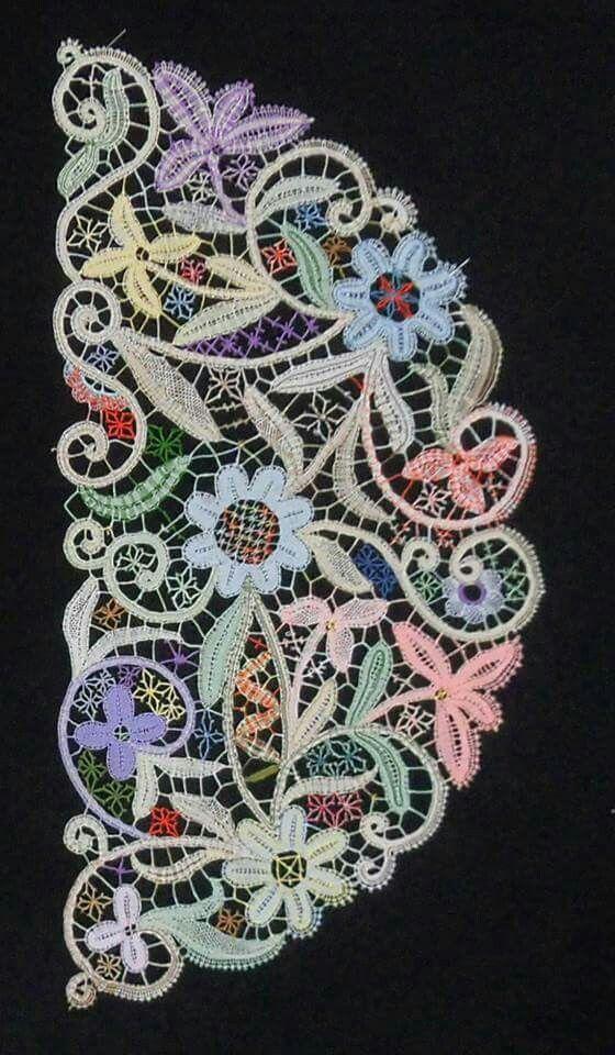 bobbin lace fan pattern