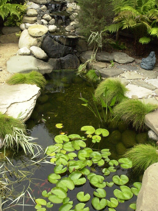 Asian Landscape Garden Tub Design, Pictures, Remodel, Decor and Ideas - page 17