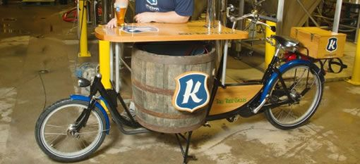 The world`s first beer bike