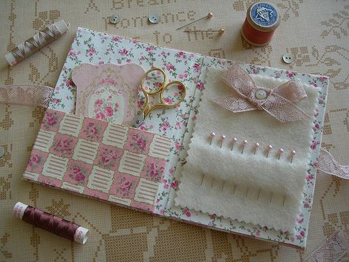 Needlebooks handcrafted. Cute little gift idea for your quilting friends.