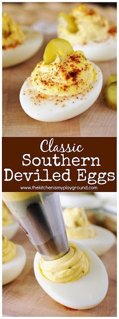 Classic Southern Deviled Eggs ~ always a potluck and party favorite!