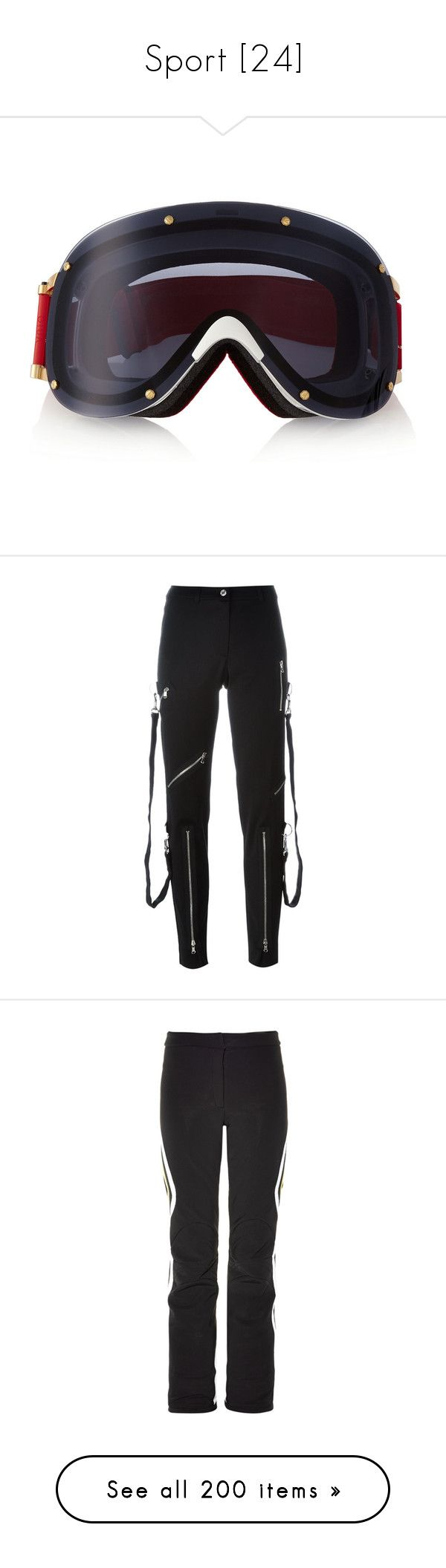 """""""Sport [24]"""" by gdavilla ❤ liked on Polyvore featuring sport, pants, bottoms, jeans, pants and leggings, black, cropped pants, high-waist trousers, straight leg pants and cropped trousers"""