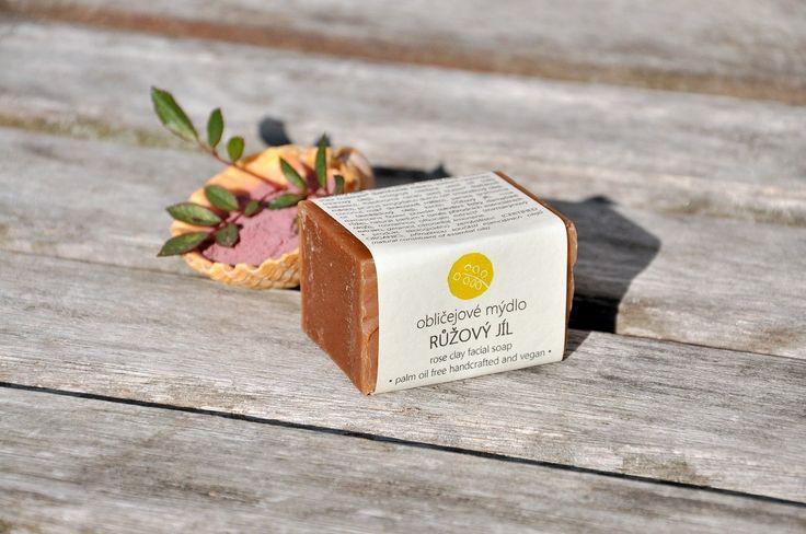 Facial soap with rose clay, rose powder and beautiful geranium - citrus - minty sent