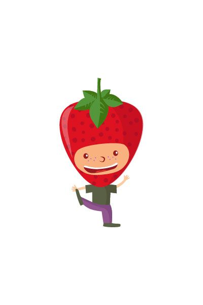 Strawberry Kid Vector #strawberry #vector #fruits #handdrawvector http://www.vectorvice.com/fruit-kids-vector-pack