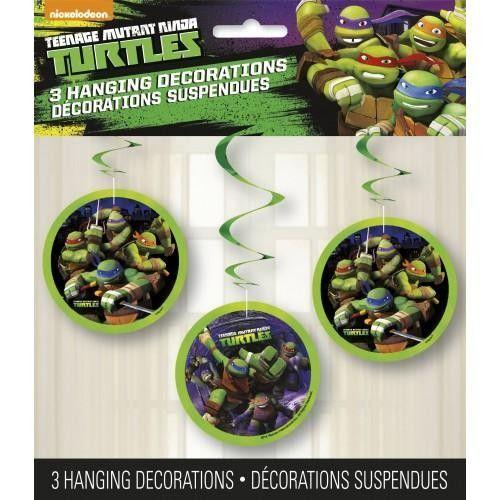 3 décorations suspendues Tortues Ninja