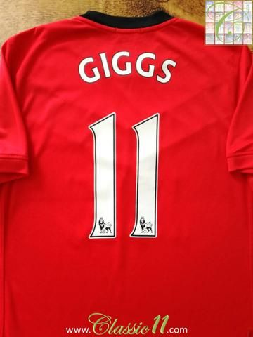 Official Nike Manchester United home football shirt from the 2009/2010 season. Complete with Giggs #11 on the back of the shirt in Premier League lettering.