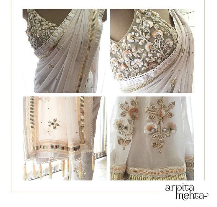 Arpita Mehta # hand crafted # saree love # thread work #