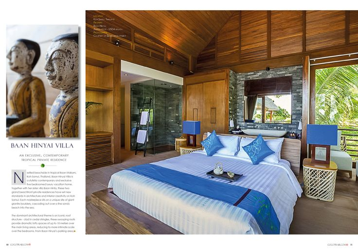 Stylish and contemporary, Baan Hinyai Villa - Koh Samui, Thailand. Cocotraie Issue 11 Special Hidden Escapes.