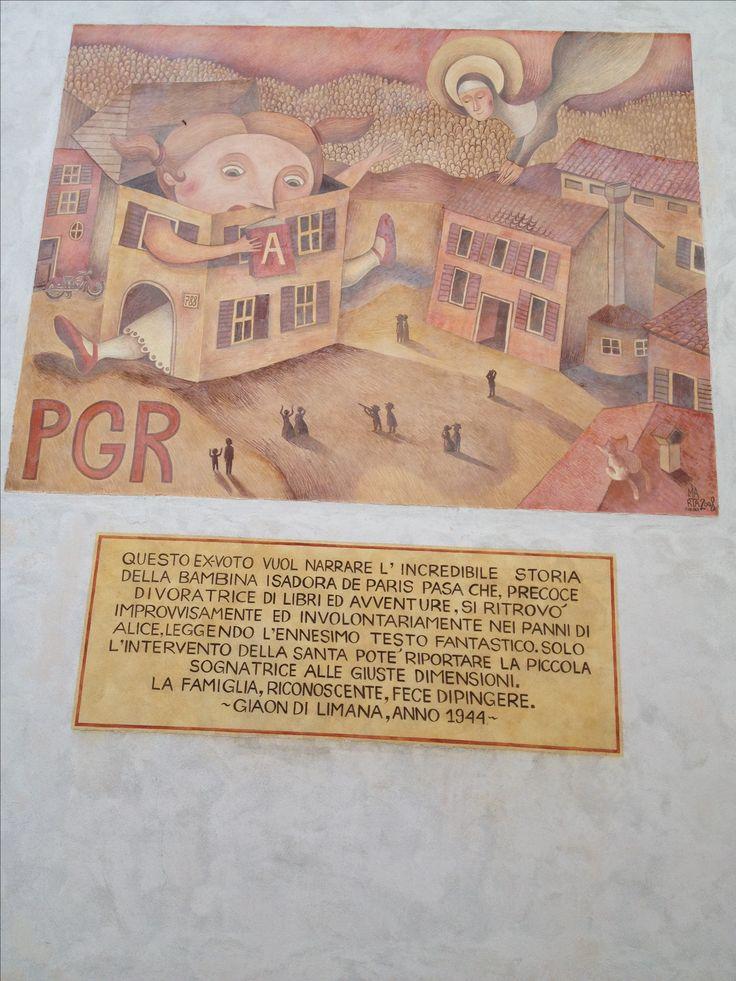 Murales a Giaon Belluno Dolomiti Veneto Italia