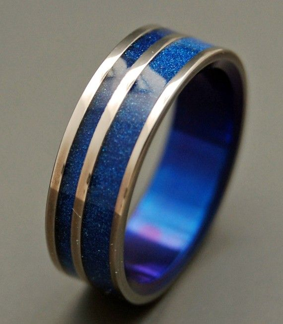 wedding rings titanium rings wood rings mens rings womens ring titanium wedding bands eco friendly rings all is well - Star Trek Wedding Ring