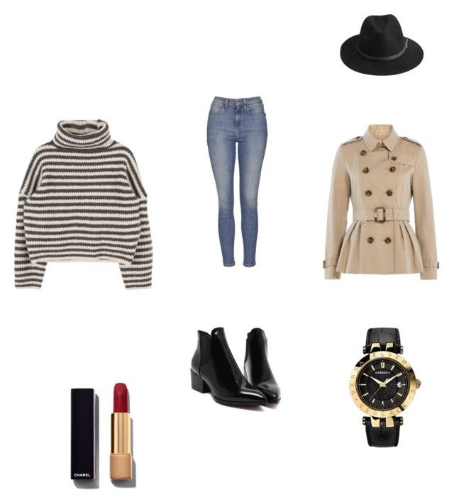 """""""Rainy days"""" by cristina-ferreira-silva on Polyvore featuring Topshop, Burberry, Chanel, BeckSöndergaard and Versace"""