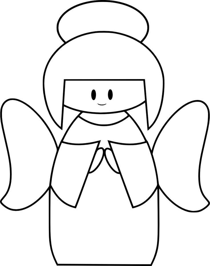 free cute angel digital stamp