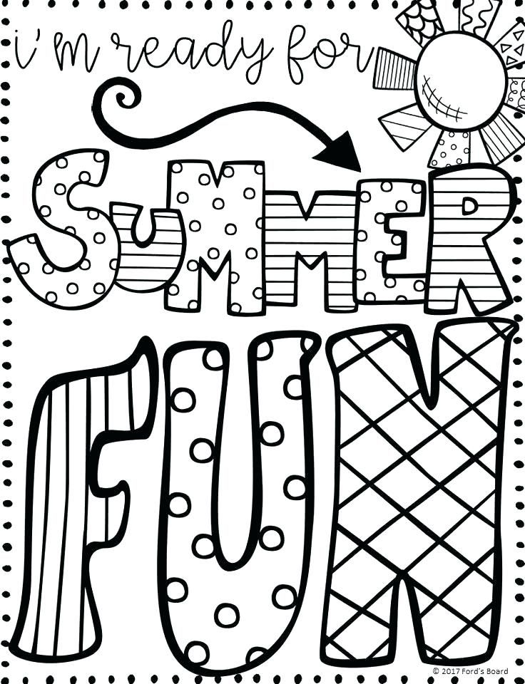 Image Result For Summer Coloring Sheets
