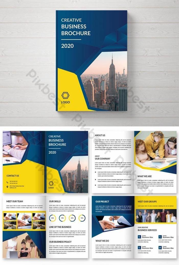 Creative Corporate Bi Fold Brochure Design Ai Free Download Pikbest In 2020 Brochure Design Bi Fold Brochure Brochure