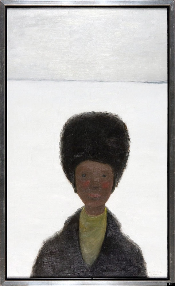 """BELOW: ""Girl with Fur Hat,"" oil on canvas, by famous Canadian painter Jean-Paul Lemieux is shown in a handout photo. It is was among 20 valuable pieces of art the Department of Foreign Affairs had designated for sale, with an estimated market value of $300,000. THE CANADIAN PRESS/HO-Department of Foreign Affairs and International Trade Canada"""