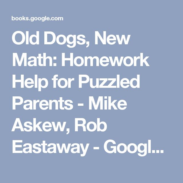 Math homework help for parents , An Help for the Ignorant; or, an ...