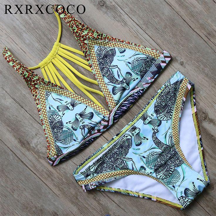 Cheap bain, Buy Directly from China Suppliers:RXRXCOCO Sexy Bikinis Women Swimsuit 2017 Brazilian Bikini Set Bandage Beach Wear Women Bathing Suits Swim Suit Maillot De Bain