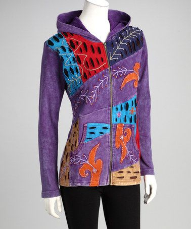 Take a look at this Purple Earth Zip-Up Hoodie - Women by Rising International on #zulily today!