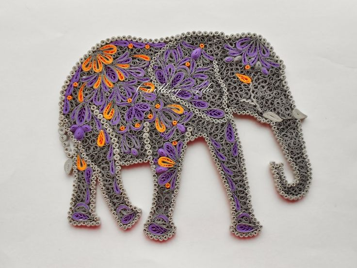 Quilling by Ada: Elefant