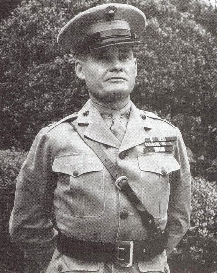 Marine Captain Chesty Puller in Shanghai, China, 1933