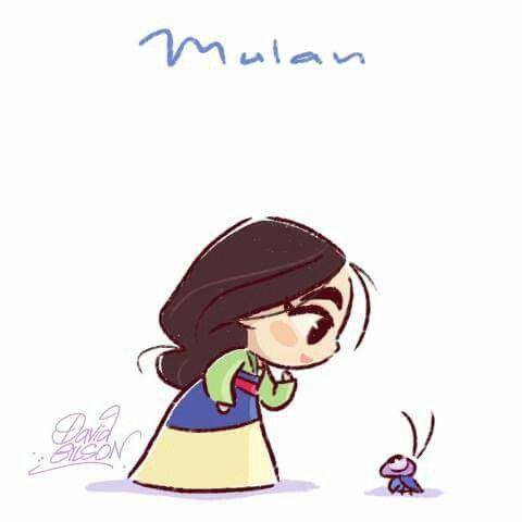 Mulan and Cri-kee by David Gilson