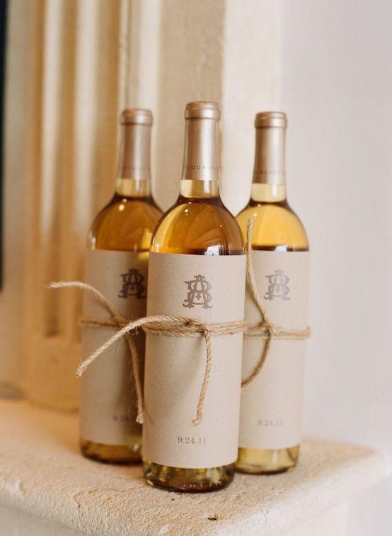 Personalized wine bottles Lockwood-Coro Wedding Pinterest
