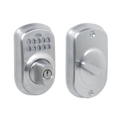 Schlage Plymouth Single-Cylinder Electronic Entry Door Deadbolt with Keypad