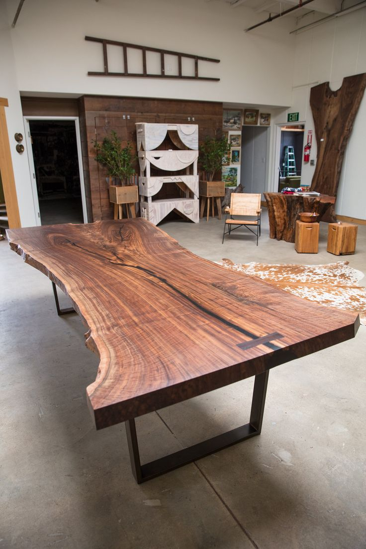 Wood dining with wrought iron quot clasp quot base very popular dining - Claro Walnut Dining Room Table