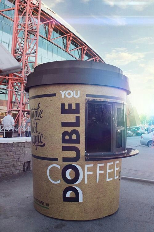Cool coffee to go stand